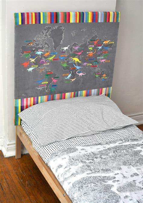 dinosaur headboard dino map headboard upholstery tutorial spoonflower blog