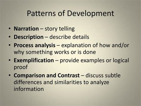 definition pattern of development 18 definition essay thesis exles personal values