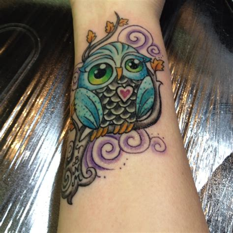 feminine owl tattoo designs cool colors and a feminine owl tattoos ink love owl