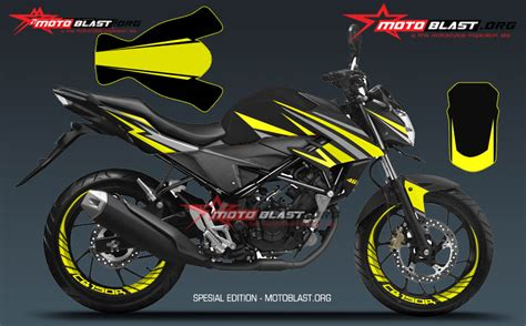 Striping Variasi Cb150r New 4 modifikasi striping new cb150r black sporty yellow motoblast