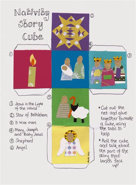 printable children s nativity story flame creative children s ministry nativity story cube