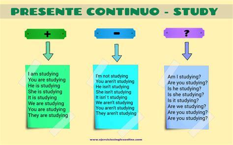 formula para hacer preguntas en presente perfecto conjugaci 243 n verbo quot study quot presente continuo ejercicios