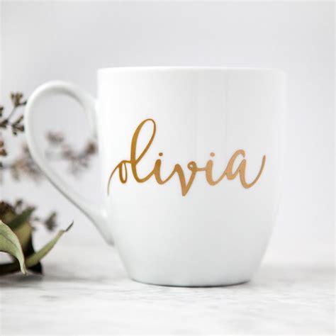 personalized mug gold custom coffee mug bridesmaid gifts