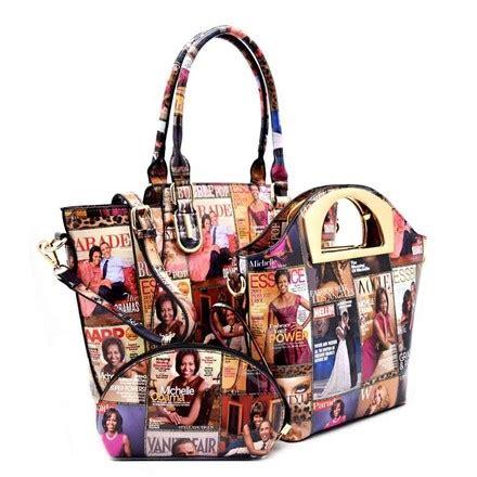 obama magazine 3 in 1 purse shopper multi color