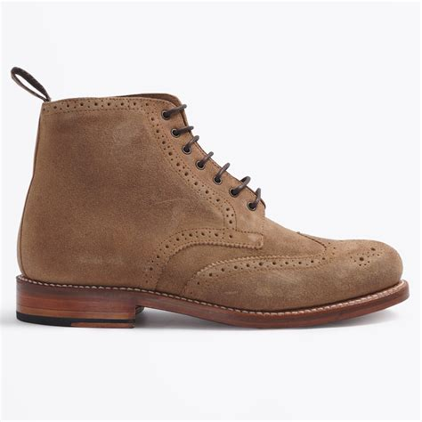 sharp suede brogue boot grenson shoes mens shoes