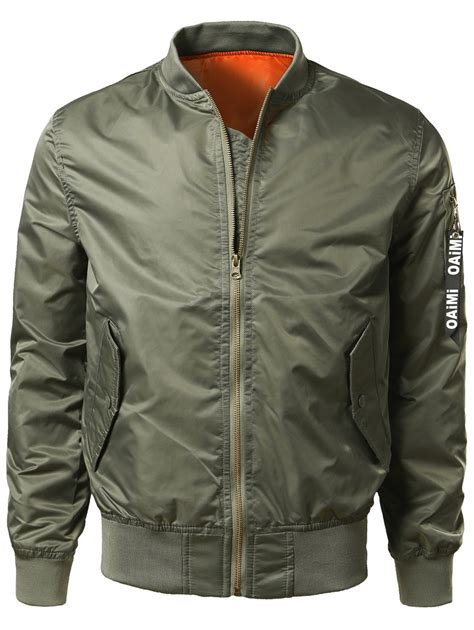 army pattern bomber jacket zip up bomber jacket with pocket detail in army green xs