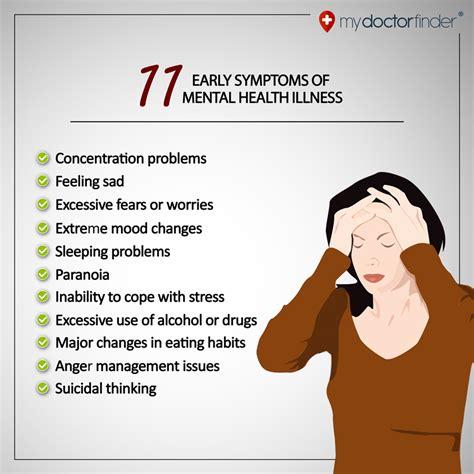 illness symptoms 11 symptoms of mental health illness my doctor finder