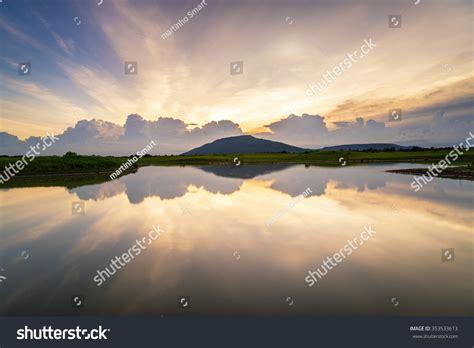 beautiful lake beautiful sky beautiful scenery sunset sky view lake stock photo