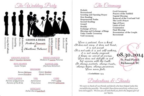 free downloadable wedding program templates wedding program templates weddingbee