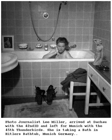 lee miller bathtub photographs of world war ii notables 45th infantry division headquarters and members