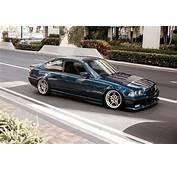 Avus Blue BMW E36 Coupe On OEM Styling 66 Wheels