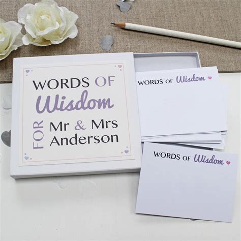 wedding words of wedding guest words of wisdom notes by give ink