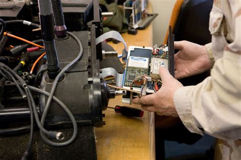 Rf Technician by Technician Working On Foster Miller Robot S Rf Module Spawar On Eecue Dave Bullock Eecue