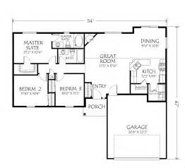 Small Single Story House Plans by 1323 Floor Plan Fox Custom Homes