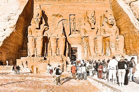 Longsleve Ramses in the presence of ramses ii at abu simbel photograph by