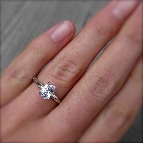 2 carat emerald cut diamond engagement ring wedding and