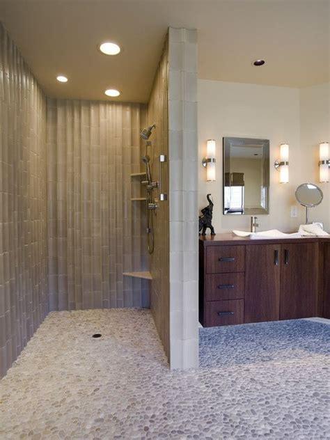 doorless shower bathroom design