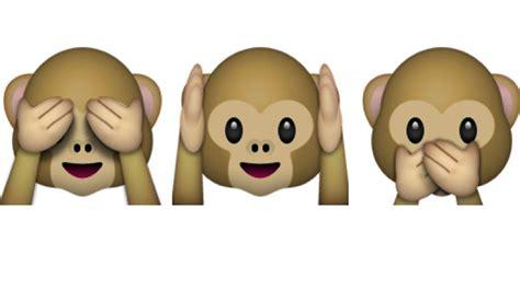 imagenes del emoji del mono explorando entre los emojis de whatsapp celulares