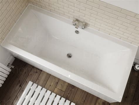 double ended bathtub 1700 x 700 straight standard bath bathroom acrylic square