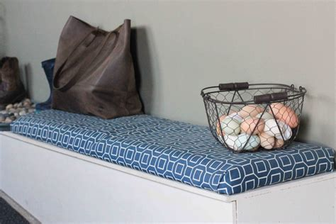 make your own bench cushion diy bench cushion no sewing required the logbook