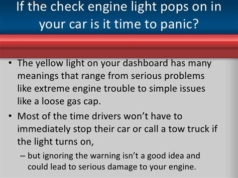 warning warning what the check engine light means for