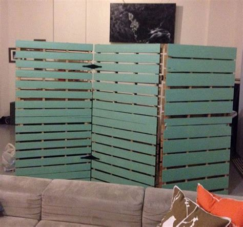 Room Dividers Made From Pallets Wooden Pallet Room Divider Pallets Designs