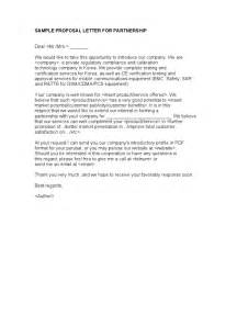 Thank You Letter New Business Partner sample proposal letter for partnership