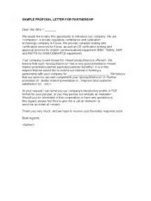Sample Letter For Charity Partnership sample proposal letter for partnership