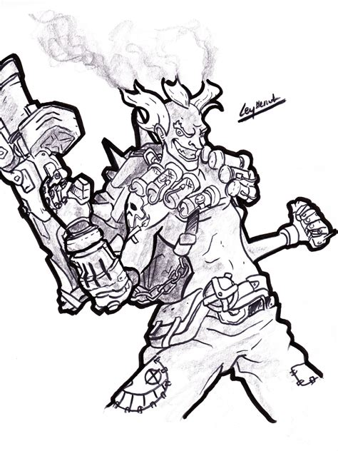 more coloring a grayscale coloring book grayscale coloring books volume 70 books overwatch junkrat by leyssenotg on deviantart