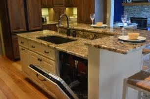 kitchen island sink dishwasher dishwasher and sink in the island