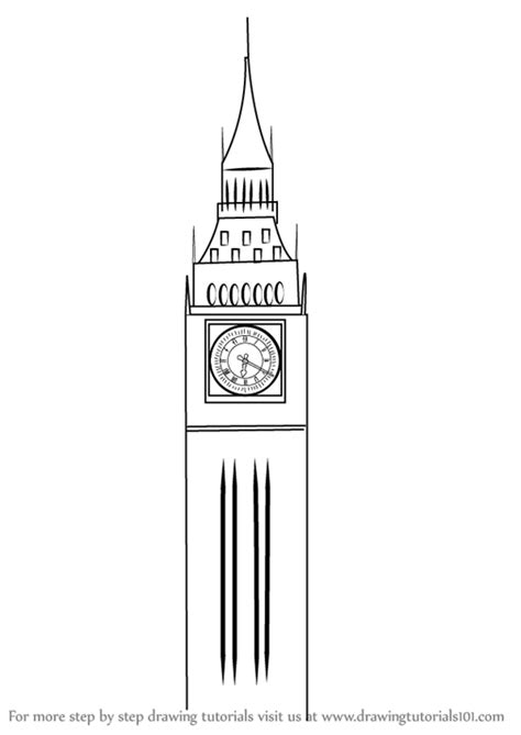 Drawing Big learn how to draw big ben other places step by step