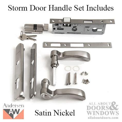 series 3000 door handle andersen 3000 series door handle set satin nickel