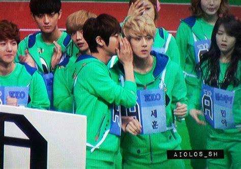exo isac priview 130128 idol star olympic exo seohyunkyuhyun
