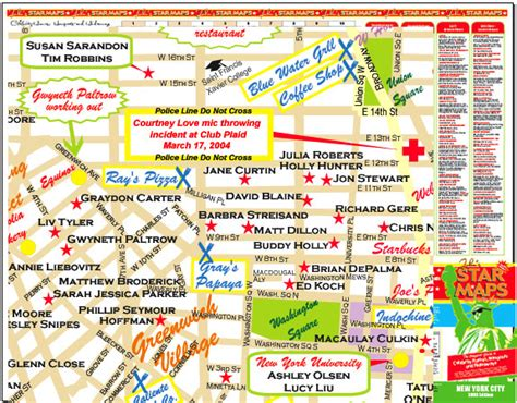 hollywood celebrity tour map new york star maps maps of celebrity homes in manhattan