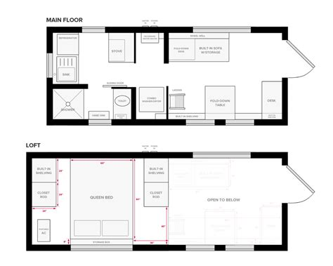 tiny house on wheels floor plans blueprint for construction the tiny project