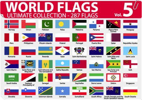 flags of the world early years 各国或地区国旗和区旗矢量图 5 矢量图标素材 矢量素材 素彩网