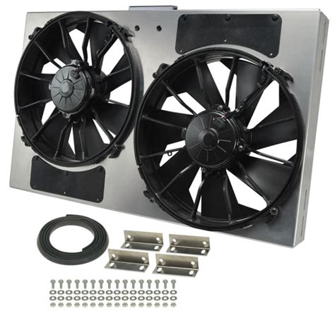 dual electric fans with shroud derale 26 3 8 quot dual high output electric radiator fan w