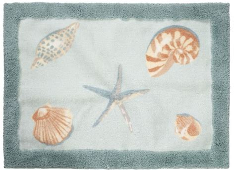 seashell bathroom rugs seashell shells beach rug bath throw rug room mat new