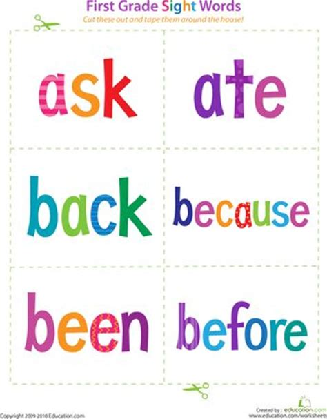 printable flash cards for first grade slideshow first grade sight words sight words first