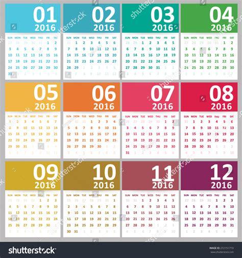 design a calendar 2016 simple 2016 calendar 2016 calendar design stock vector