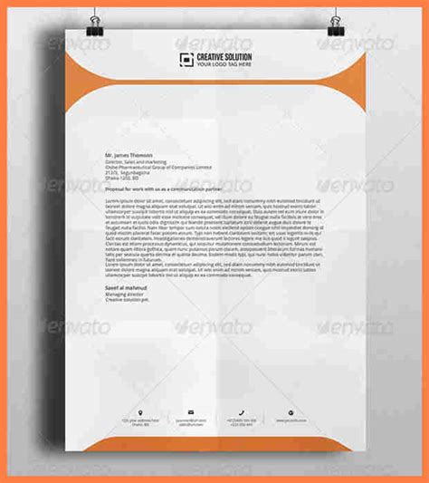 letterhead templates for photoshop free 5 letterhead photoshop template company letterhead
