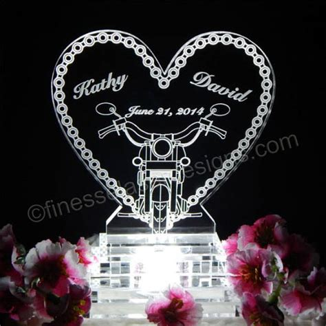 Wedding Cakes Chaign Il by Motorcycle Chain Lighted Wedding Cake Topper Acrylice Cake Top