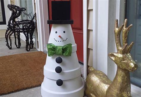 diy clay pot christmas crafts beesdiycom