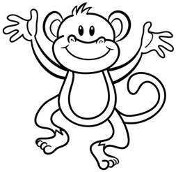 what color are monkeys monkey coloring page bestofcoloring