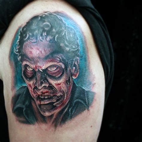 tattoo arm zombie 90 zombie tattoos for men masculine walking dead designs