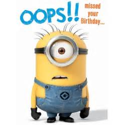 despicable me minion belated birthday card danilo