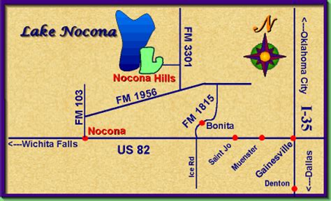 nocona map nocona country club and residential community map