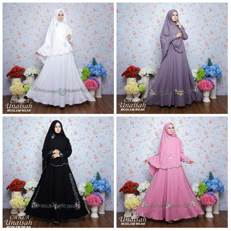 Baju Muslim Gamis Syari Allika By Axelle Collection 01 jual baju gamis carla syari by unaisah