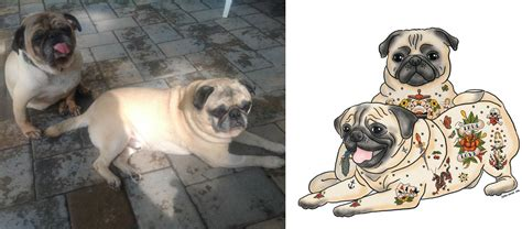 pug peke tzu rescue look at these five rescue dogs who were turned into works of barkpost