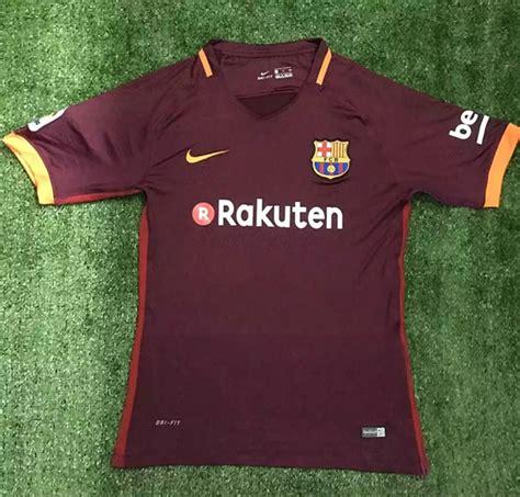 Jersey Barcelona 3rd 2017 2018 17 18 Fullset Grade Ori primicia la segunda camiseta barcelona 2017 2018